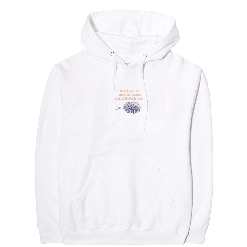 REDUCE PHYCHIC TENSION HOODIE WHITE