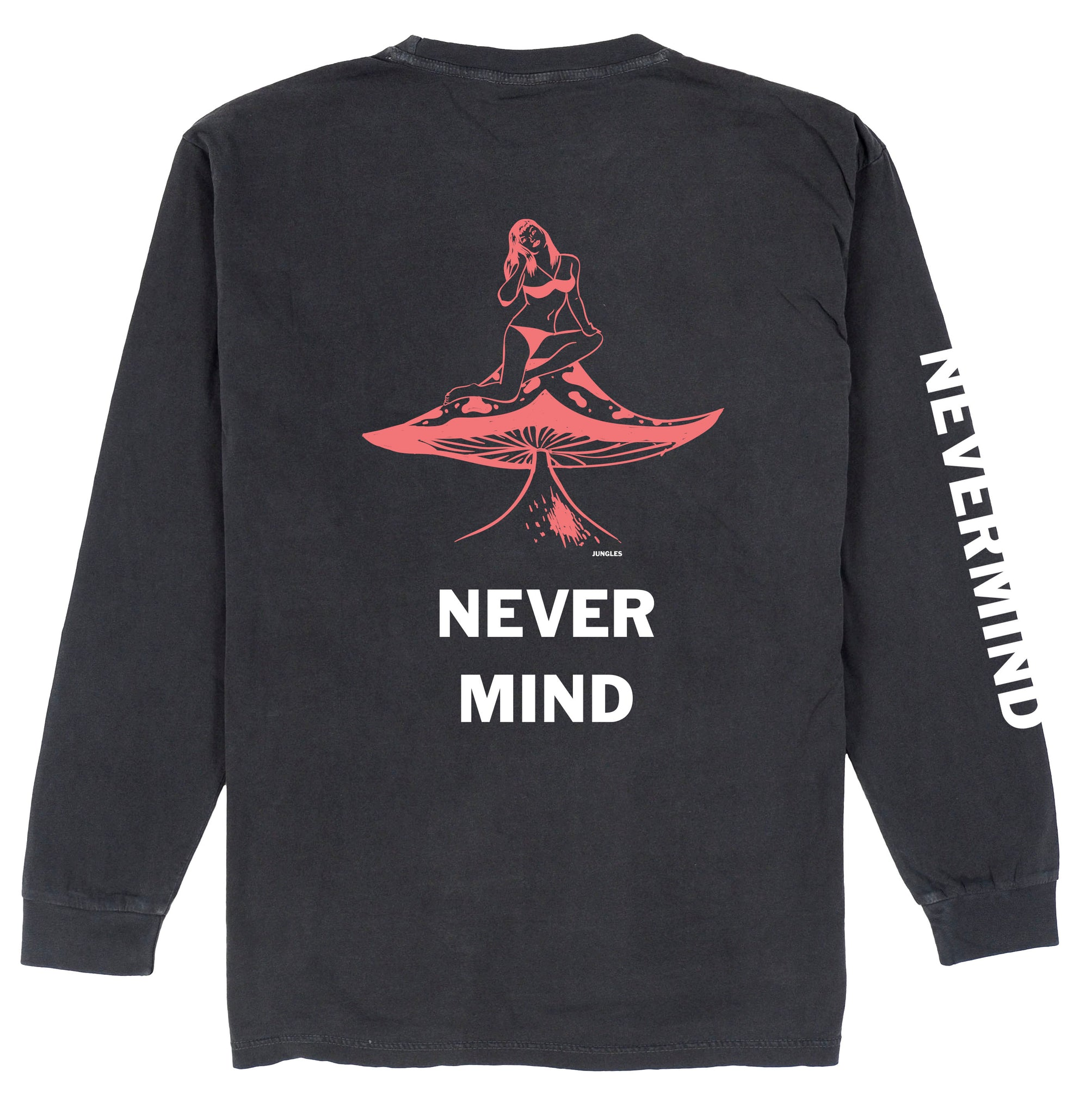 NEVERMIND LS TEE CHARCOAL