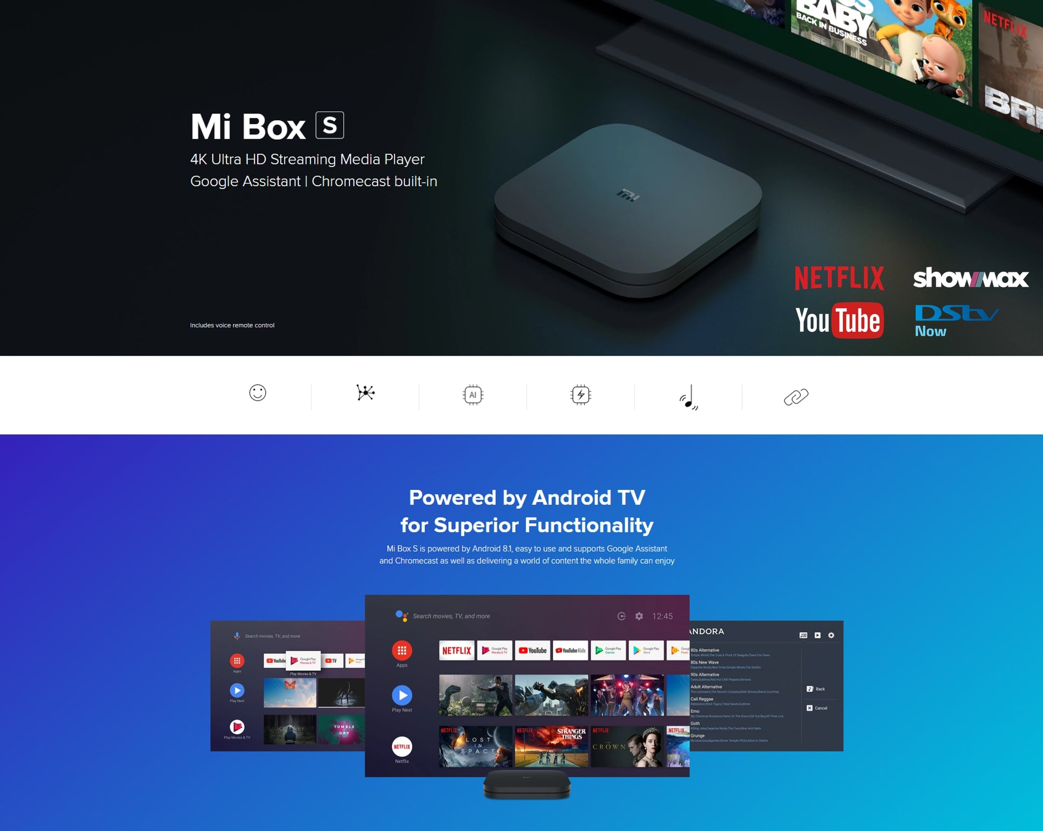 Mi Box watch Netflix, Showmax, DSTV and much more powered by Android TV