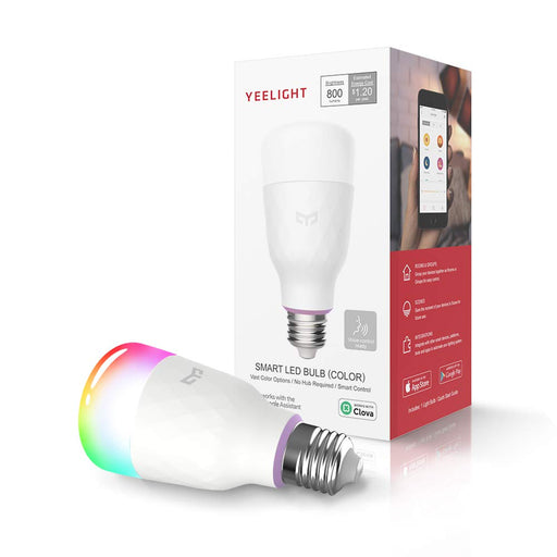 Xiaomi Yeelight LED 800 Lumen  Smart Colour Light Bulb 2 - Smartphone Shop | Buy Online