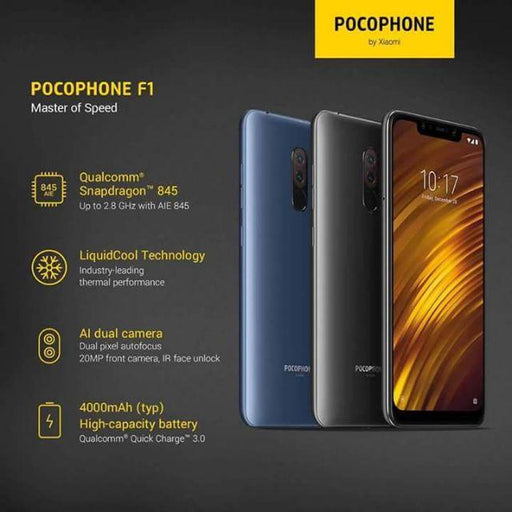 POCOPHONE F1 By Xiaomi Liquid Cooled 6GB / 128GB - Smartphone Shop | Buy Online
