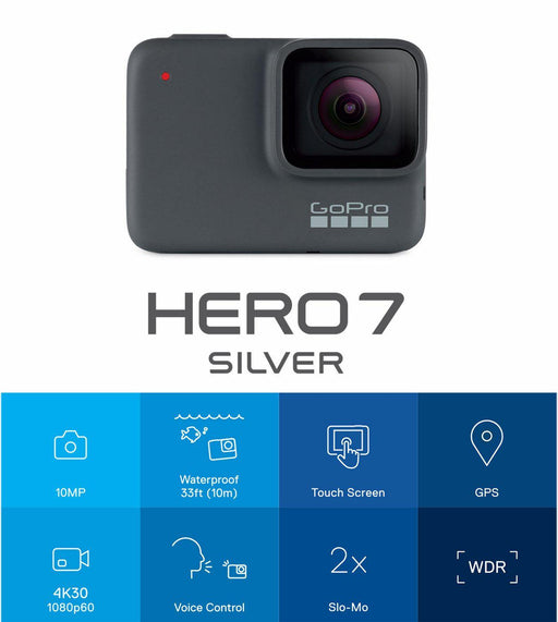 GoPro Hero 7 Action Camera Silver