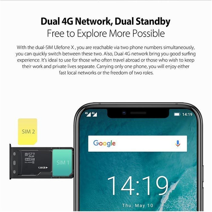 Ulefone X Android 8.1 LTE Smartphone 4GB/64GB Dual Sim - Smartphone Shop | Buy Online