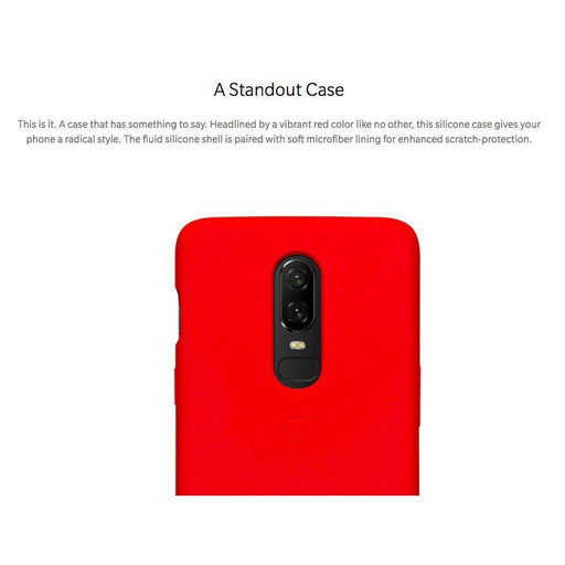 OnePlus 6 Silicone Protective Case - Red - Smartphone Shop | Buy Online