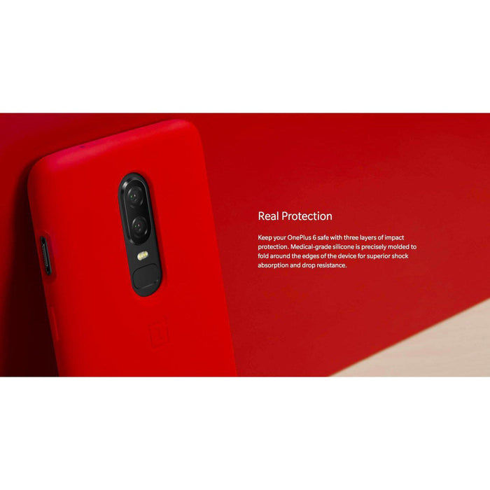 OnePlus 6 Silicone Protective Case - Red