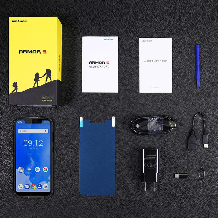 Ulefone Armor 5 Rugged IP68 Waterproof SmartPhone Notch Display and Face ID