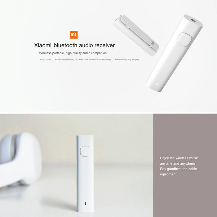 Xiaomi Bluetooth 4.2 Audio Receiver Wireless Adapter 3.5mm Jack AUX Audio