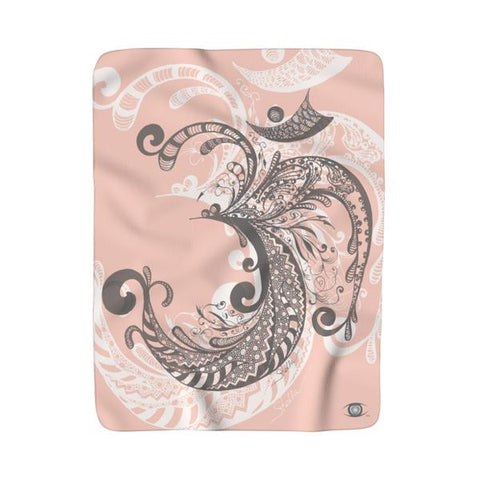 OM Sherpa Fleece Blanket