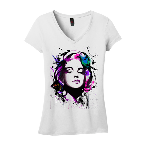 Ladies' Marilyn by Michael Vahl V-Neck T-Shirt