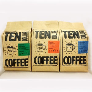 3 Variety x 8 oz Sampler Pack: Whole Bean Coffees