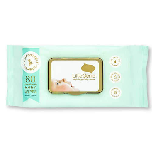 Compostable Baby Wipes Fragranced - Carton of 6 Packs (80 wipes per pack)