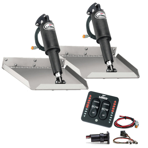 Lenco 9 X 9 Edgemount Trim Tab Kit W-Led Indicator Switch Kit 12V [Tt9X9Ei] - Boat Outfitting