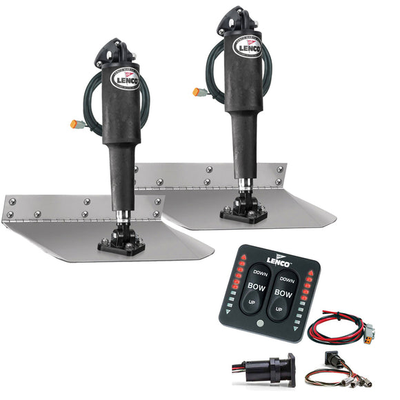 Lenco 12 X 9 Edgemount Trim Tab Kit W-Led Indicator Switch Kit 12V [Tt12X9Ei] - Boat Outfitting