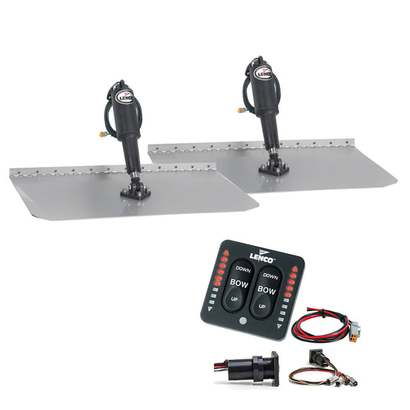 Lenco 12 X 12 Standard Trim Tab Kit W-Led Integrated Switch Kit 12V [15109-103] - Boat Outfitting