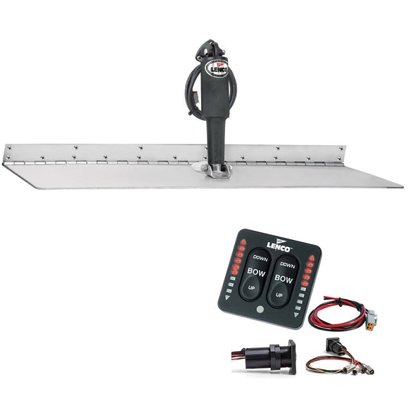 Lenco 12 X 18 Super Strong Trim Tab Kit W-Led Indicator Switch Kit 12V [Tt12X18Ssi] - Boat Outfitting