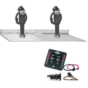 Lenco 16 X 24 Dual Actuator Super Strong Trim Tab Kit W-Led Indicator Switch Kit 12V [Tt16X24Ssi] - Boat Outfitting