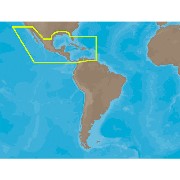 C-Map Max Na-M027 - Central America & The Caribbean - Sd Card [Na-M027Sdcard] - Cartography