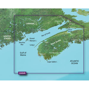 Garmin Bluechart G2 Vision Hd - Vca004R - Bay Of Fundy - Microsd-Sd [010-C0690-00] - Cartography