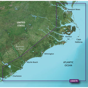 Garmin Bluechart G2 Vision Hd - Vus007R - Norfolk - Charleston - Microsd-Sd [010-C0708-00] - Cartography
