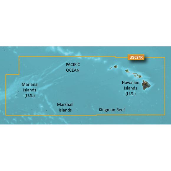 Garmin Bluechart G2 Vision Hd - Vus027R - Hawaiian Islands - Mariana Islands - Microsd-Sd [010-C0728-00] - Cartography