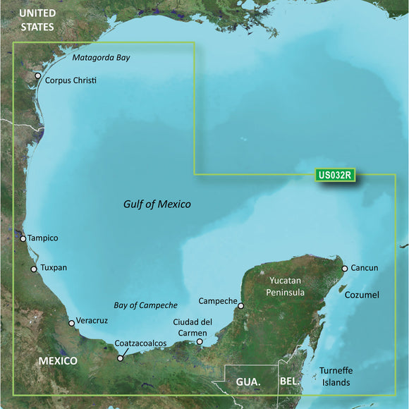 Garmin Bluechart G2 Vision Hd - Vus032R - Southern Gulf Of Mexico - Microsd-Sd [010-C0733-00] - Cartography