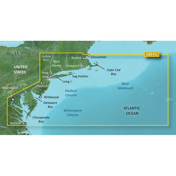 Garmin Bluechart G2 Vision Hd - Vus511L - Boston - Norfolk - Microsd-Sd [010-C0740-00] - Cartography