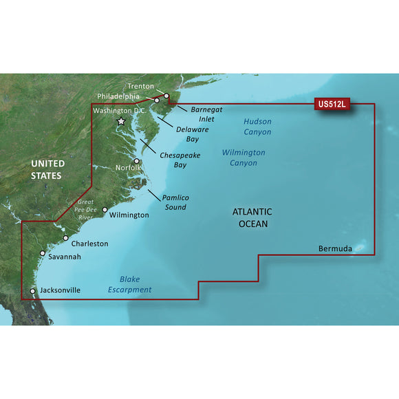 Garmin Bluechart G2 Vision Hd - Vus512L - Mid-Atlantic - Microsd-Sd [010-C0741-00] - Cartography