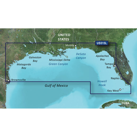Garmin Bluechart G2 Vision Hd - Vus515L - Brownsville - Key Largo - Microsd-Sd [010-C0744-00] - Cartography