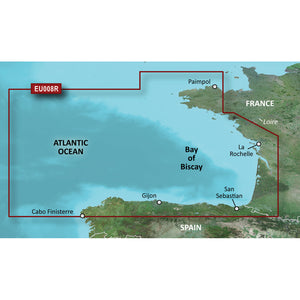 Garmin Bluechart G2 Vision Hd - Veu008R - Bay Of Biscay - Microsd-Sd [010-C0766-00] - Cartography