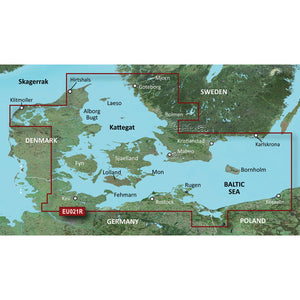 Garmin Bluechart G2 Vision Hd - Veu021R - Denmark East & Sweden Southeast - Microsd-Sd [010-C0777-00] - Cartography