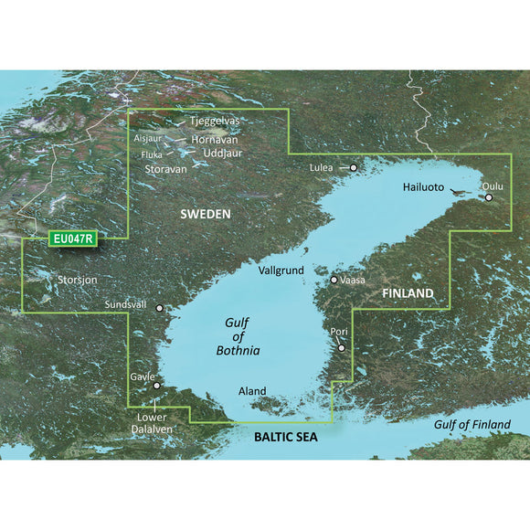 Garmin Bluechart G2 Vision Hd - Veu047R - Gulf Of Bothnia - Kalix To Grisslehamn - Microsd-Sd [010-C0783-00] - Cartography