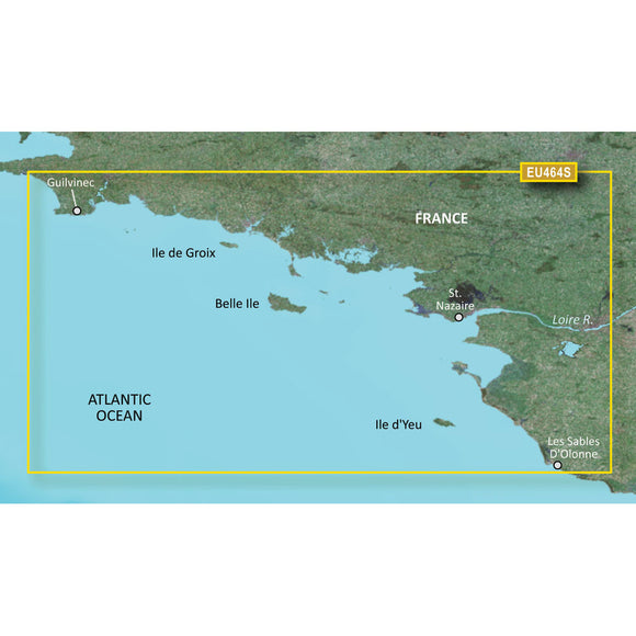 Garmin Bluechart G2 Vision Hd - Veu464S - Penmarch To Les Sables Dolonne - Microsd-Sd [010-C0808-00] - Cartography