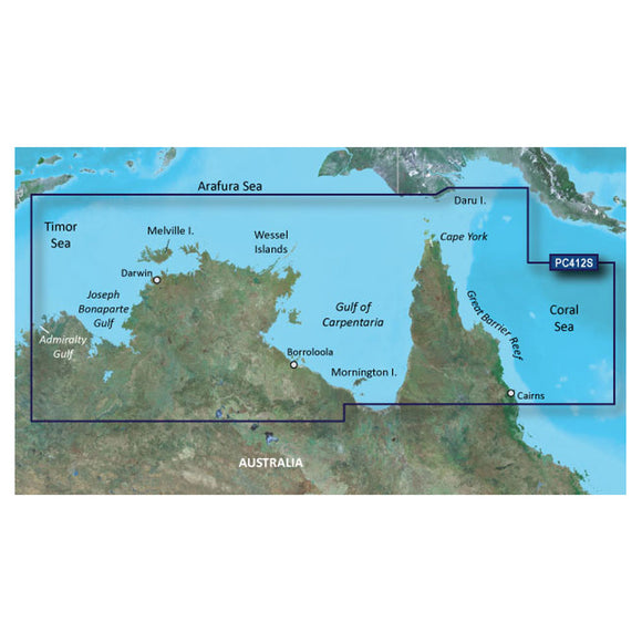 Garmin Bluechart G2 Vision Hd - Vpc412S - Admiralty G. Wa - Cairns - Microsd-Sd [010-C0870-00] - Cartography