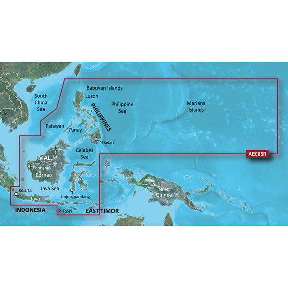 Garmin Bluechart G2 Vision Hd - Vae005R - Philippines - Java Mariana Is. - Microsd-Sd [010-C0880-00] - Cartography