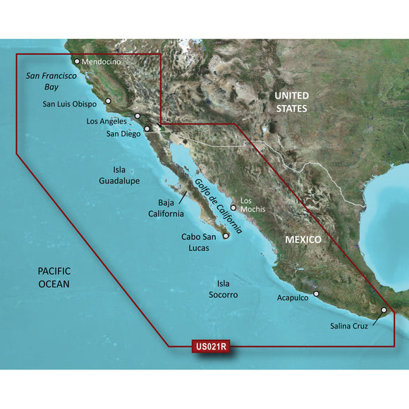 Garmin Bluechart G2 Hd - Hxus021R - California - Mexico - Microsd-Sd [010-C0722-20] - Cartography