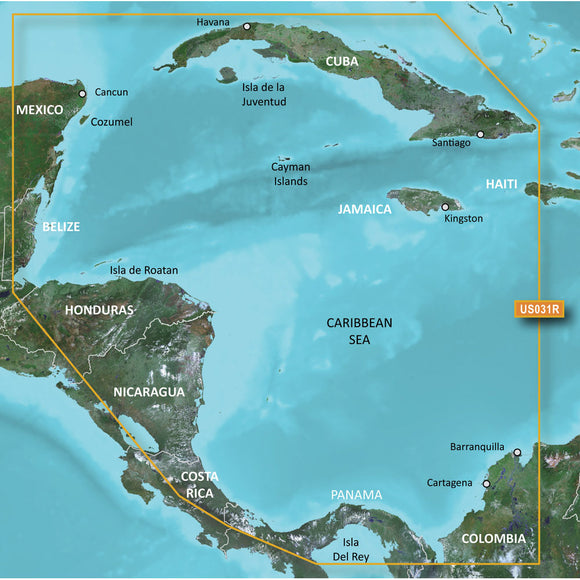 Garmin Bluechart G2 Hd - Hxus031 - Southwest Caribbean - Microsd-Sd [010-C0732-20] - Cartography