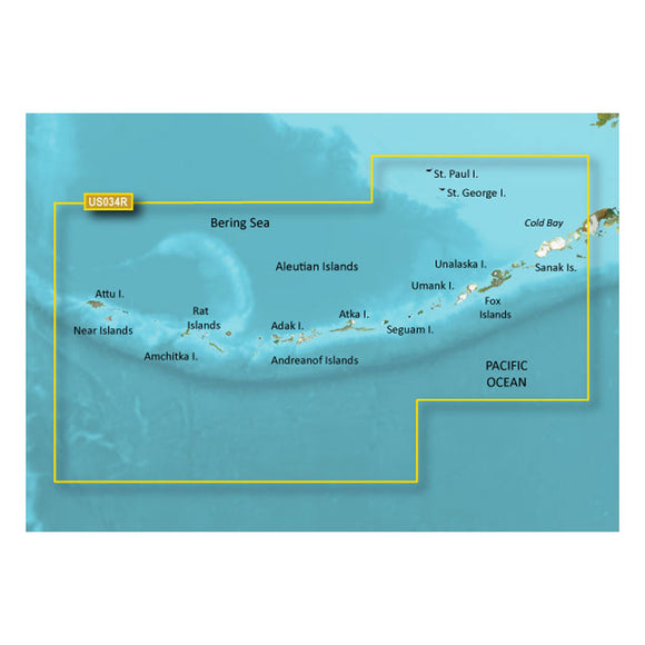 Garmin Bluechart G2 Vision Hd - Vus034R - Aleutian Islands - Microsd-Sd [010-C0735-00] - Cartography