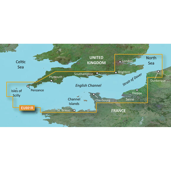 Garmin Bluechart G2 Hd - Hxeu001R - English Channel - Microsd-Sd [010-C0760-20] - Cartography