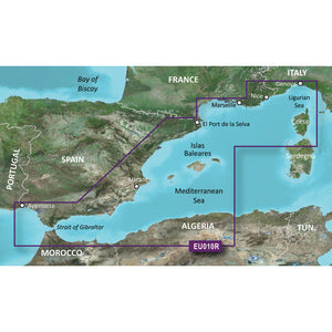 Garmin Bluechart G2 Hd - Hxeu010R - Spain Mediterranean Coast - Microsd-Sd [010-C0768-20] - Cartography