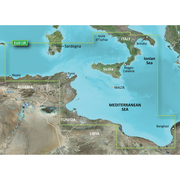 Garmin Bluechart G2 Hd - Hxeu013R - Italy Southwest & Tunisia - Microsd-Sd [010-C0771-20] - Cartography