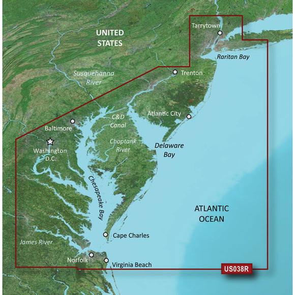 Garmin Bluechart G2 Vision Hd - Vus038R - New York - Chesapeake - Microsd-Sd [010-C1004-00] - Cartography
