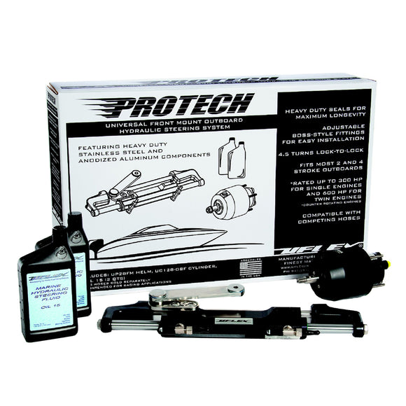 Uflex Protech 3 Front Mount Outboard Hydraulic System - No Hoses Included [Protech 3.0] - Boat Outfitting