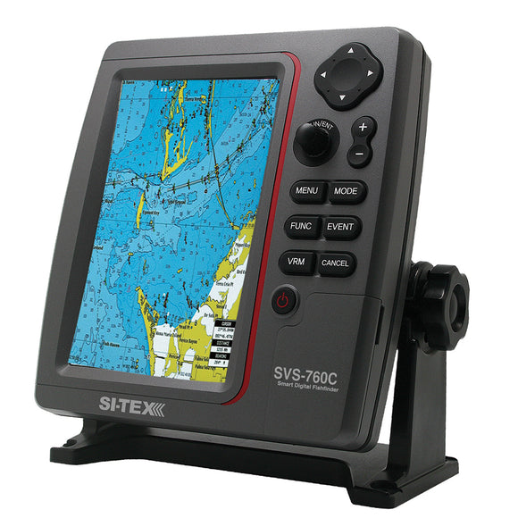 Si-Tex Svs-760C Digital Chartplotter W-Navionics+ Flexible Coverage [Svs-760C] - Marine Navigation & Equipment