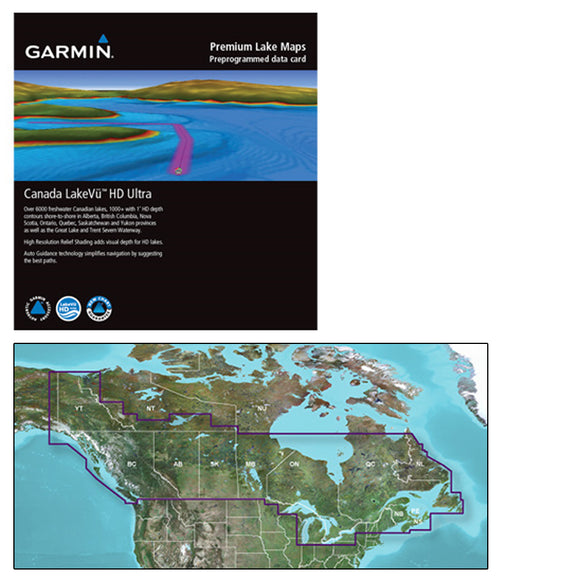 Garmin Canada Lakevu Hd Ultra - Microsd-Sd F-Gpsmap & Echomap Series [010-C1114-00] - Cartography