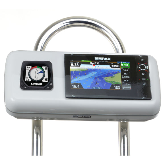 Navpod Gp1516 Systempod Pre-Cut F-Simrad Nss7 Evo2 Or B&g Zeus 7 & 1 Instrument F-9.5 Wide Guard [Gp1516] - Boat Outfitting