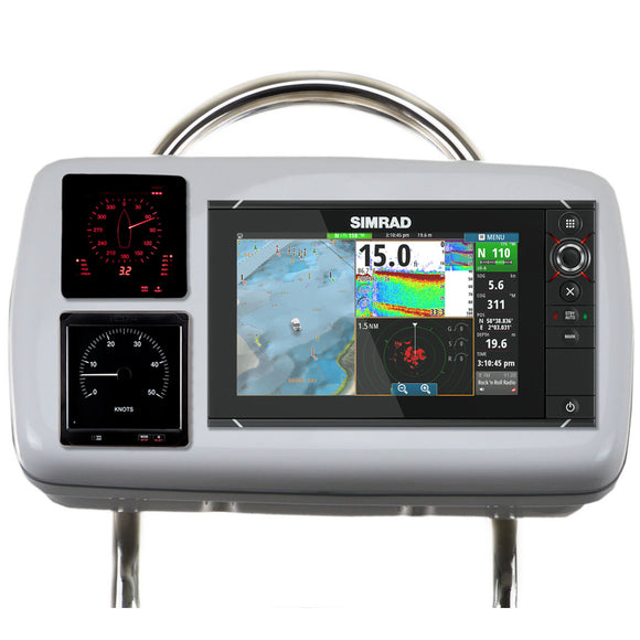 Navpod Gp2080-13 Systempod Pre-Cut F-Simrad Nss9 Evo2 Or B&g Zeus 9 & 2 Instruments F-12 Wide Guard [Gp2080-13] - Boat Outfitting