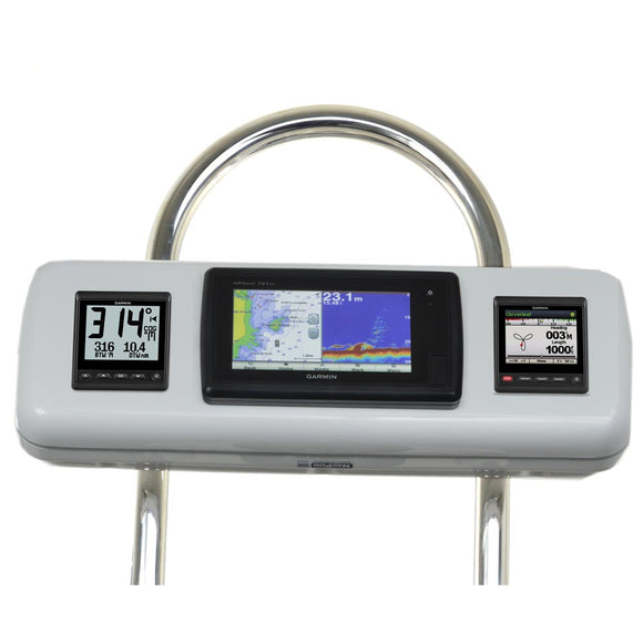 Navpod Gp2603 Systempod Pre-Cut F-Garmin 720-721 - 740-740S - 741-721Xs - 70S-70Dv & 2 Instruments F-12 Wide Guard [Gp2603] - Boat