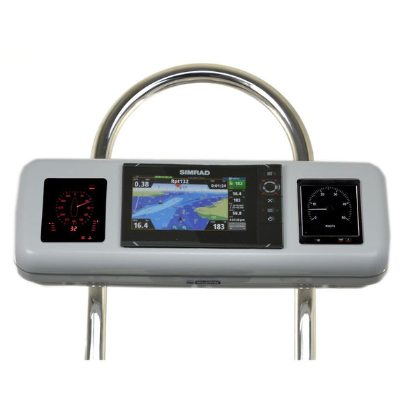 Navpod Gp2606 Systempod Pre-Cut F-Simrad Nss7 Evo2 Or B&g Zeus 7 & 2 Instruments F-12 Wide Guard [Gp2606] - Boat Outfitting