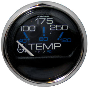Faria Chesapeake Black Ss 2 Water Temperature Gauge (100-250 Degreef) [13704] - Boat Outfitting