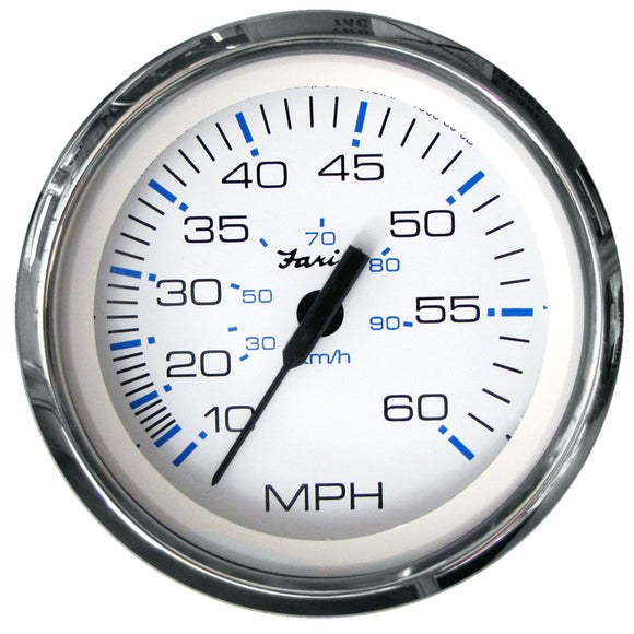 Faria Chesapeake White Ss 4 Speedometer - 60Mph (Mechanical) [33811] - Boat Outfitting